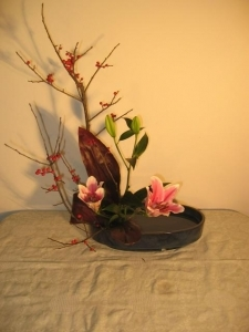 Japanese ikebana floral arrangement