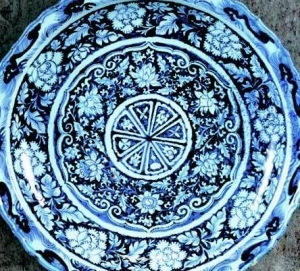 Blue platter from the Toguri Museum collection