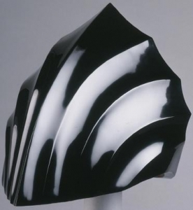 Urushi art helmet piece Kurimoto