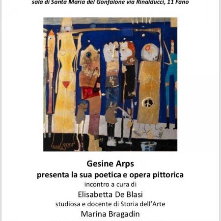 29.02.2020: Gesine Arps Lecture de poésies et présentation d'oeuvres, Circolo Bianchini, Fano - Italie