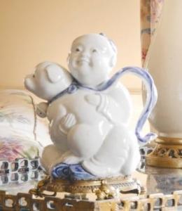 19th Century White Glazed Hirado Sake Pot